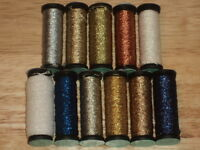 KREINIK #8 FINE BRAID Metallic Thread 10M SILVER 001, GOLD 002, PEARL, ORANGE +