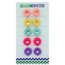 Clip On Earrings for Little Teen Girls Kids Daughter, Color Doughnut Gift Set