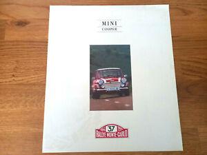 Classic Genuine Rover Mini Cooper Monte Carlo Brochure Rare Mpi Sport 500 Rare S