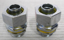 """(2) Hubbell Liquid Tight Straight Connector 1/2"""""""