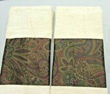 BOHEMIAN /2 Custom Hand Towels DECORATED W/ NEW Ralph Lauren fabric