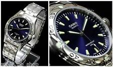 MTP-1243D-2A Blue Casio Men's Watches Quartz Analog Stainless Steel Band New
