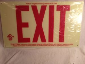 """Lot of 4 Exit Signs, Brady, 87807, 7-3/4""""H x 13""""W   ****Free Shipping****"""
