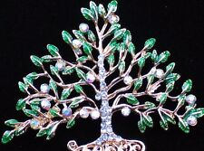 GARDEN FRUIT EVERGREEN WILLOW BONSAI CHRISTMAS FAMILY TREE PIN BROOCH JEWELRY 2""