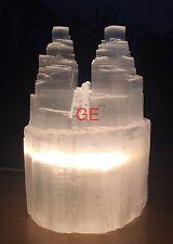 "8"" Selenite Lamp Selenite Tower Selenite Two Point Crystal Gemstone Reiki Chakra"