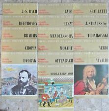 COLLECTION VINTAGE 15 VINYLS 33T CHEFS-D'OEUVRE DE L'ART, LES GRANDS MUSICIENS