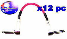 """From OZ Quality 12PC 8"""" Guitar Patch Lead Wire Cable Right Angle Ends Pink +F.P!"""