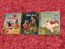Peter Pan Little Golden Book Mixed Lot Pound Puppies Poky Little Puppy Disney