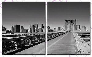 BROOKLYN BRIDGE 100x60cm 2 BILDER LEINWAND NEW YORK