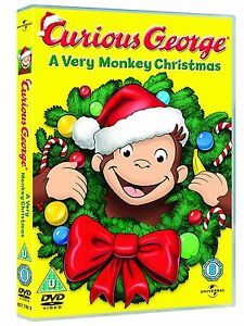 Curious George - A Very Monkey Christmas DVD - Childrens Family Present **NEW**
