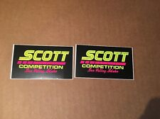 NOS Vintage Scott Motocross Competition Stickers Sun Valley Idaho