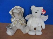 Ty Attic & Beanie Baby~Lot of 2 Plush Bears~Herald and Gwendolyn