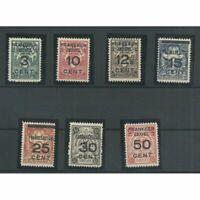 Suriname  130-136 Brandkastopdrukken MNH/postfris  CV 62 € Pracht exemplaar!!