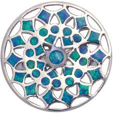 Medaglione Anello Con Opale schiacciato TURCHESE RESINA 925 Argento da ARI D Norman