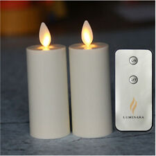 "Luminara Votive Moving Wick LED Flameless Candles 1.75""×3"" w/Remote&Timer 2 pc"
