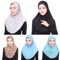 Women Under Scarf Hat Cap Bonnet Ninja Hijab Islamic Neck Cover Muslim Hijab 3C