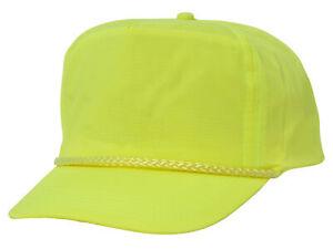 Nylon Crinkle Golf Cap - Neon Yellow