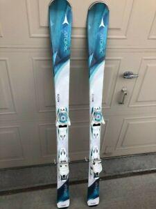 2017 Atomic Affinity Air 140cm –Women's Beginner/Intermediate Skis with Bindings