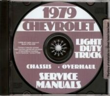 CHEVROLET 1979 Pickup, Van, Blazer, Suburban & Truck Shop Manual CD