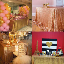 Plus Size Sparkly Sequin Tablecloth For Wedding Party Dessert Table Cloth Decor