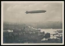 645004) Zeppelin AK Graf Zeppelin über der Kehrwiederspitze Hamburger Hafen