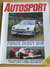 AUTOSPORT MAGAZINE SEP 1985  FORD'S DEBUT WIN PROST MONZA MEARS INTERVIEW CRAMER
