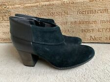 CLARKS SOFT CUSHION BLACK LEATHER ANKLE BOOTS SIZE UK 6 D