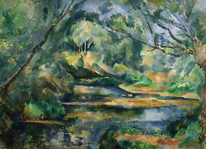 The Brook Paul Cezanne Art  A0 A1 A2 A3 A4 Photo Poster