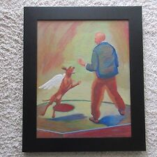 FRANK GUTIERREZ PAINTING SURREALISM ABSTRACT MUSEUM QUALITY ICONIC EXPRESSIONIST