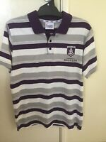 Fremantle Dockers AFL Official On Field Polo Shirt Football Stripes L63cm W50cm