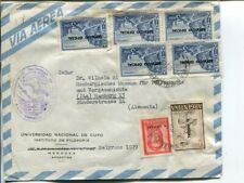 Argentina official stamps on air mail cover to Germany 1963