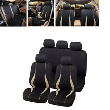 9x Washable Car Seat Cover Protector Full Set Fit For Interior Accessories