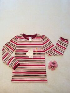 New! Gymboree Pink & Red Shirt w/ Ponytail Holders - Girls size 8, NWT