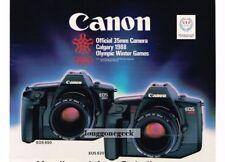 1988 CANON EOS 650, 620 35mm SLR Camera Vtg Print Ad