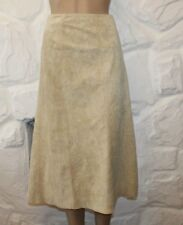Beige Crinkled Suede BOCO A BOCO Zip Calf Length A-Line Skirt Size XL L 31 Boho