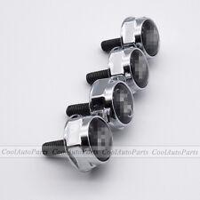 4PCS Silver Metal Car License Plate Frame Screws Bolts Caps Covers For Hyundai