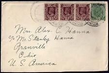 BURMA INDIA 1938 MYINMU BURMA TO GRANVILLE OHIO USA