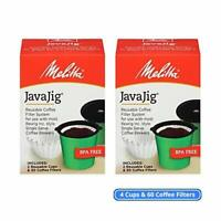 TWO NEW & IMPROVED Melitta JavaJig Starter Kits Refillable Reusable K Cup