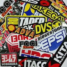 40 MIXED RANDOM STICKER DECAL CAR ATV BIKE RACING HELMET MOTORCROSS DIRT BMX #B