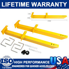 "Super Performance 770501 Yellow Universal Traction Rod Bars Kits 28"" Length Pair"