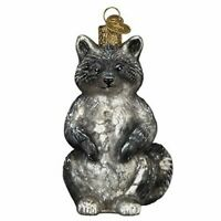 Old World Christmas 51010 Glass Blown Vintage Raccoon Ornament