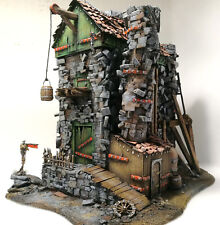 """NEW!! WARHAMMER age of sigmar WAR GAME SCENERY """"Abandoned Factory"""" PRO PAINTED"""