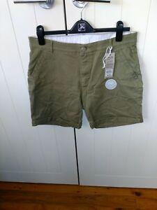 Rockmans khaki denim ladies shorts  Size 14  Brand New With Tags RRP $39.99