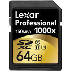 Lexar 64GB Professional 1000x SDHC/SDXC Class 10 UHS-II Memory Card