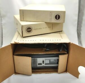 Kodak Carousel 600 Portable Slide Projector w 3 Carousels (80 & 140 capacity)