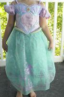 Disney Princess Little Mermaid Ariel Dress Up Costume Pretend Play Size 5/6