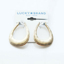 New Lucky Brand Teardrop Hoop Earrings Gift Vintage Women Party Holiday Jewelry
