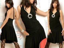 Sexy Miss Femmes Raff Robe Salca Danse Robe Argent Boucle Noir 34/36/38
