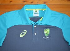 ASICS Official Cricket Australia Travel Polo TShirt Mens Size M Like New