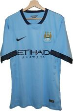 BRAND NEW! 2014 MANCHESTER CITY Football SHIRT Jersey size S NIKE Tricot ENGLAND